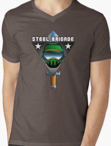 STEEL BRIGADE. Mens V-Neck T-Shirt