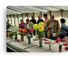 The Show Marquee at Hawkesbury Upton Horticultural Show. Canvas Print