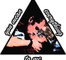 Pythagoras / Icarus Kiss Triangle Print Design by MintyBadger123