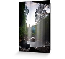 Behind the Water Curtain Greeting Card