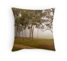 Gum trees surrounded by fog at Beechworth Throw Pillow