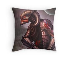 Ready for the fight.... and fate Throw Pillow