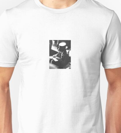Boy Writing With Top Hat Unisex T-Shirt