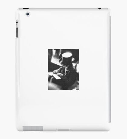Boy Writing With Top Hat iPad Case/Skin