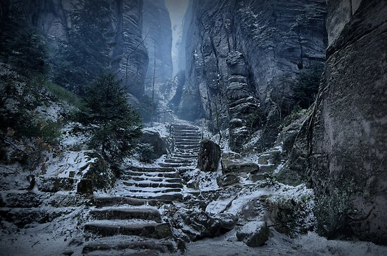 Emperor's Passage, Prachov Rocks by Stevacek