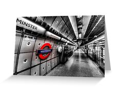Underground London Greeting Card
