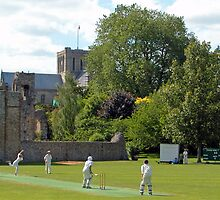 Play up! Play up! And play the game! (Cricket on Bailey, Winchester, England) by Philip Mitchell