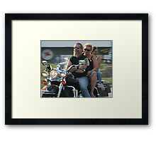 Mature Bikers Framed Print