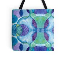Watercolor Circles - Blue Tote Bag