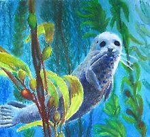 Seal in a Kelp Forest by Shanarelle