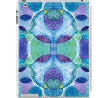 Watercolor Circles - Blue iPad Case/Skin