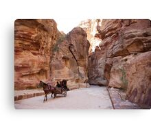 Path to Petra Canvas Print