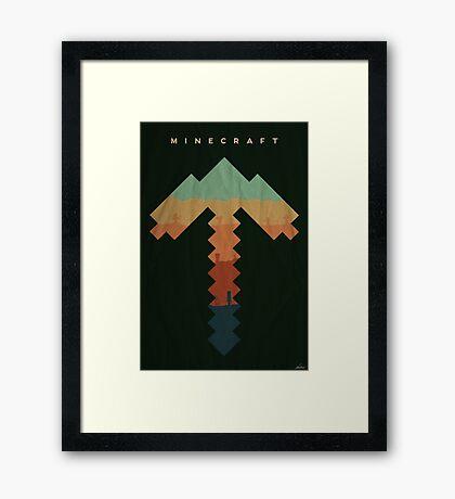 Exploration - Minecraft Framed Print