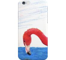 Fishing Pink Flamingo iPhone Case/Skin