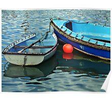Old Skiffs ~ Lyme Regis Harbour Poster