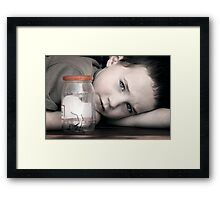 A Boy and His Spider Framed Print