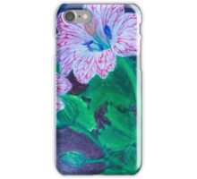 Red Veined Flowers iPhone Case/Skin
