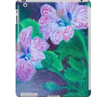 Red Veined Flowers iPad Case/Skin