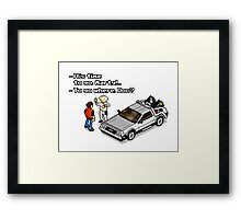 Back to the Future 8 Bit Framed Print