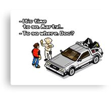 Back to the Future 8 Bit Canvas Print