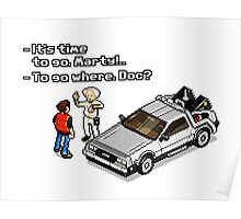 Back to the Future 8 Bit Poster