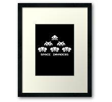 8 bit Space Invaders T shirt Framed Print