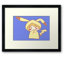 pokemon cute chibi pikachu girl anime shirt Framed Print