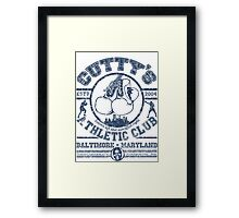 Cutty's Athletic Club Framed Print