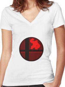 Smash Bros. Donkey Kong Women's Fitted V-Neck T-Shirt