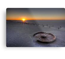 Barren Sunset • Lake Hart • South Australia  Metal Print