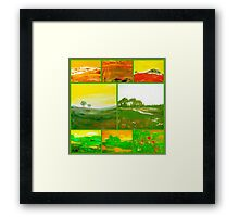 green world Framed Print