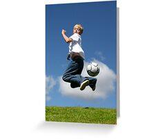 Soccer Kid Greeting Card