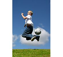 Soccer Kid Photographic Print