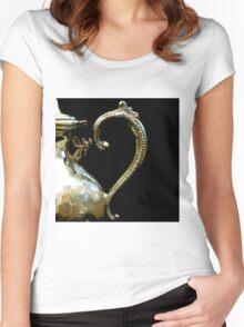 Silver Tea Pot Handle - Digital Oil Art Work Women's Fitted Scoop T-Shirt