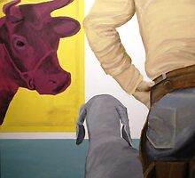 Joe Don And Gus Take A Liking To Warhol by Jim Lively
