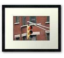 Stop Framed Print