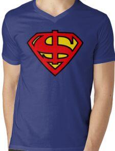 Super Dollar Mens V-Neck T-Shirt