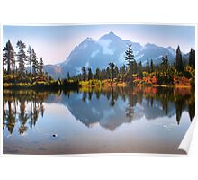 Mount Shuksan and Picture Lake in Fall. North Cascades National Park. WA. USA. Poster