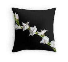 White Gladiola Throw Pillow
