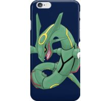 pokemon rayquaza dragon anime shirt iPhone Case/Skin