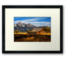 The Moulton Barn.  Mormon Row.  Jackson, Wyoming. USA. Framed Print