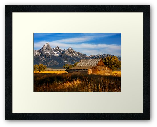 The Moulton Barn.  Mormon Row.  Jackson, Wyoming. USA. by PhotosEcosse