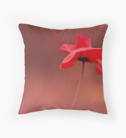 Poppy Red Throw Pillow