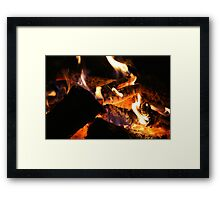 Flaming Framed Print