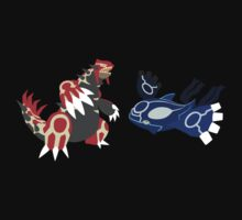 pokemon groudon kyogre anime shirt Kids Clothes