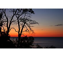 sunset on lake superior Photographic Print