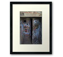 Enter At Your Own Risk Framed Print