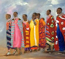 THE COLORS OF MASSAI WOMEN by LJonesGalleries