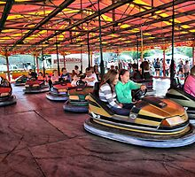 The Dodgems at Hawkesbury Upton Fair and Horticultural Show.  by Clive Lewis-Hopkins.