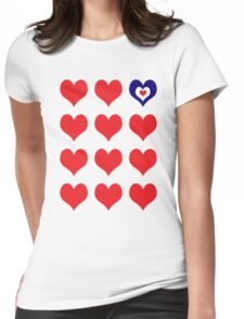 Patriotic At Heart Womens Fitted T-Shirt